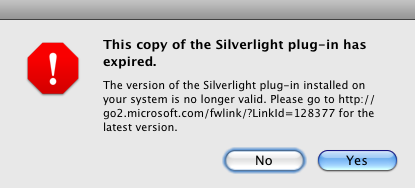Silverlight has expired!