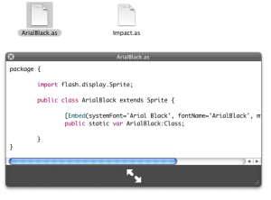 Quick Look AS3 syntax highlighting